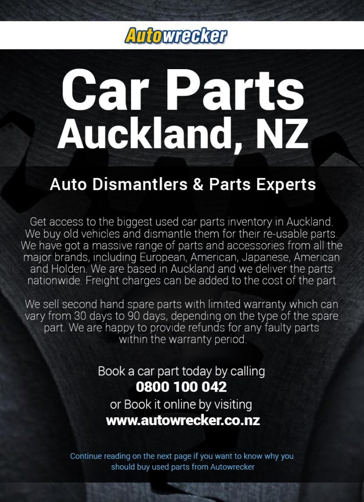 Car Parts Auckland Flyer